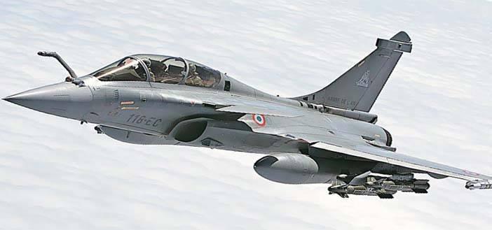 Un jet Rafale como este rompió este miércoles la barrera del sonido en Francia.