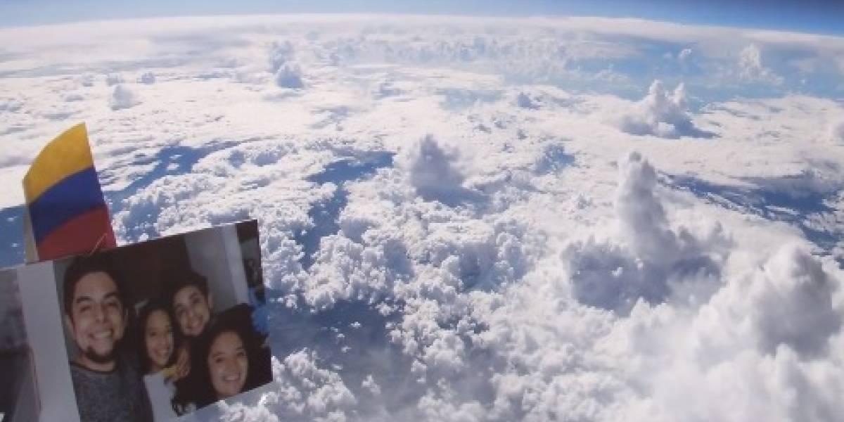 Colombiano se hizo viral por video de un globo subiendo la atmósfera