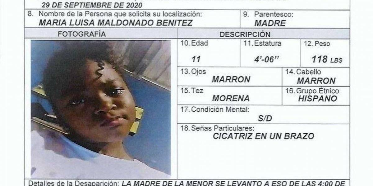 Niña de 11 años desaparece en Barrio Obrero en Santurce