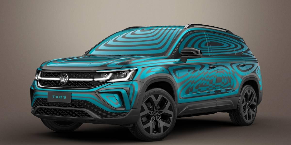 """Volkswagen Taos, bajo """"camuflaje vibrante"""""""