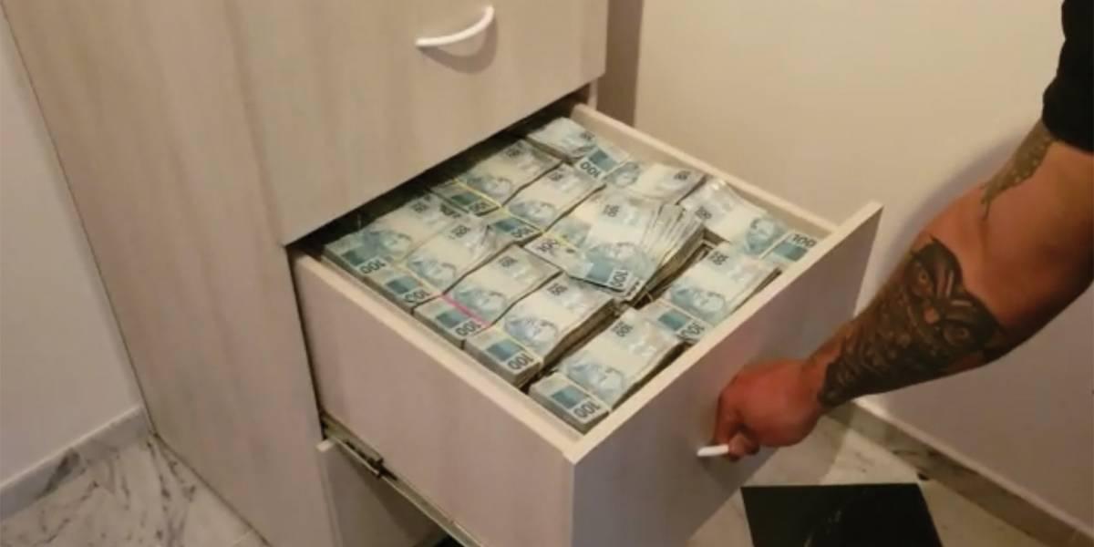 Operação descobre R$ 8 milhões em dinheiro vivo em gaveteiro