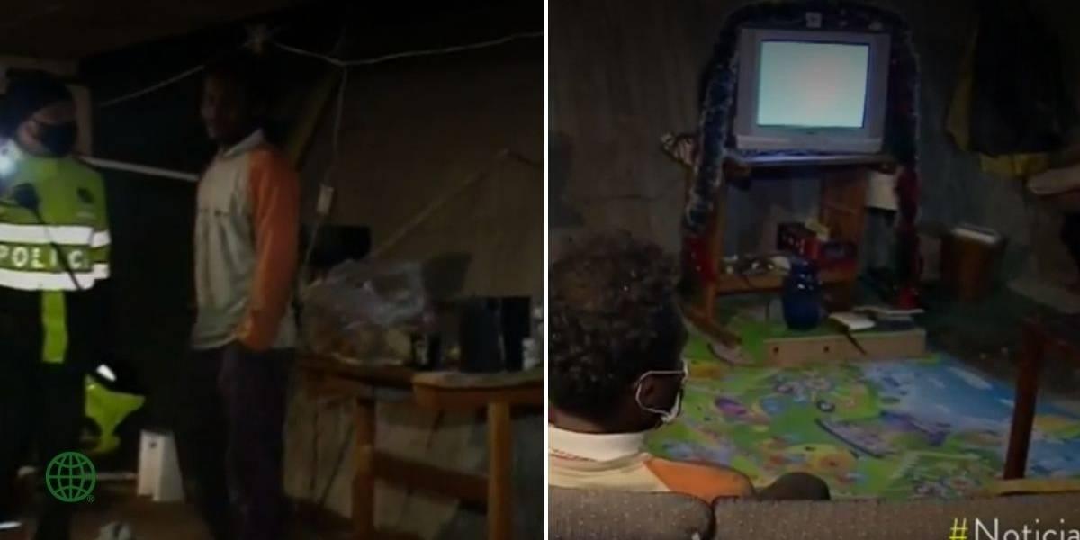 Habitante de calle hizo su propia casa debajo de un puente en el norte de Bogotá