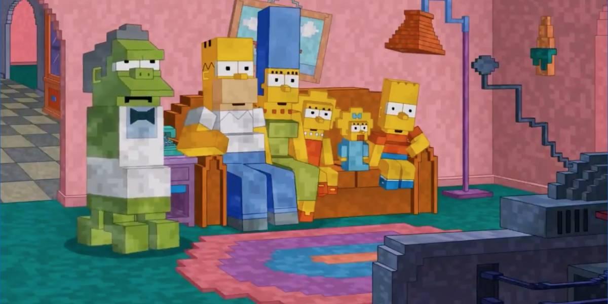 Minecraft: Los Simpson y otras tres series en donde apareció el juego y no recuerdas