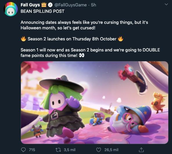 Fall guys Temporada 2 fecha oficial