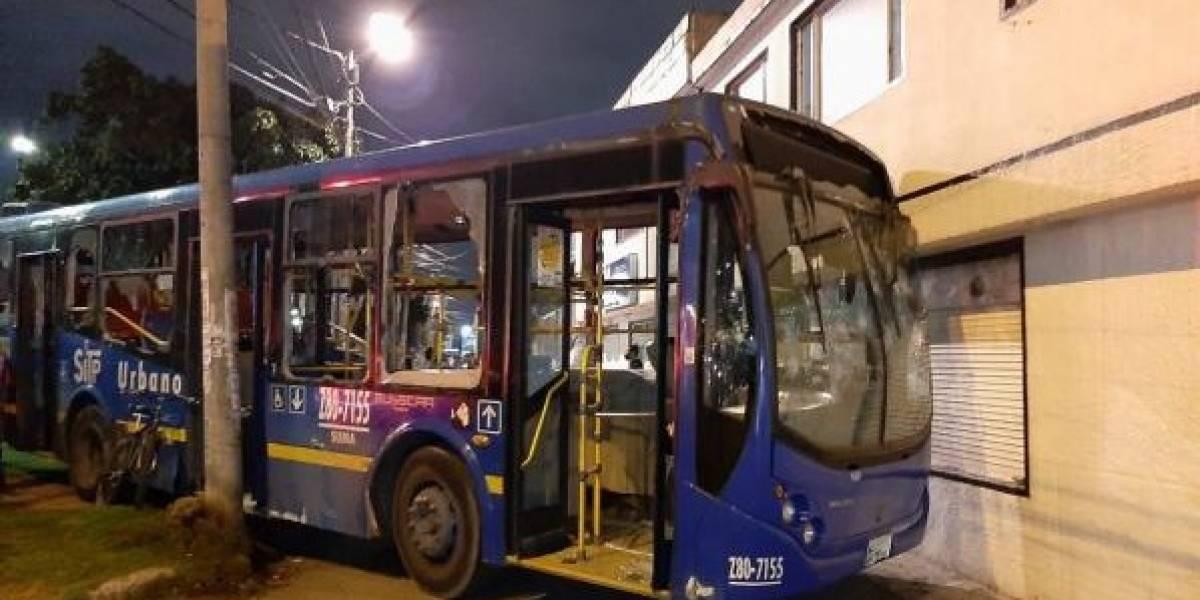 Sin trabajo: así quedó el conductor del bus del Sitp que arrolló a una mujer en protestas