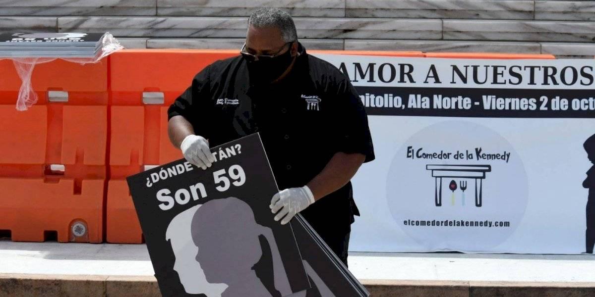 Fotogalería: Líder del Comedor de la Kennedy encabeza manifestación por menores desaparecidos