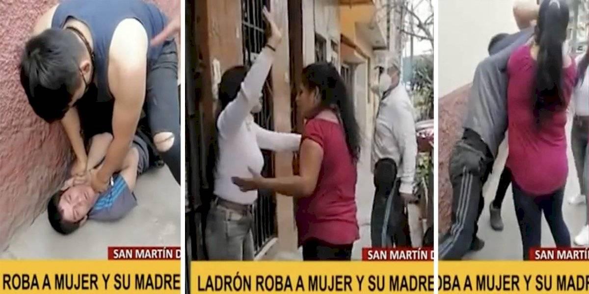 """Madre defiende a su hijo ladrón mientras robaba y dijo que será ella quien """"le llame la atención"""""""