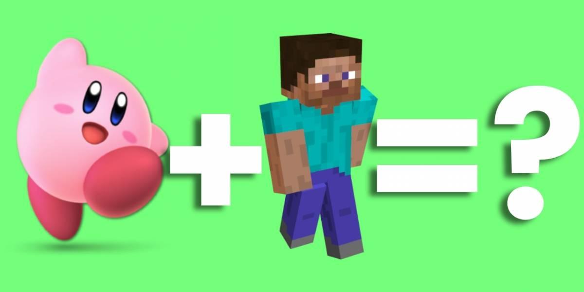 Super Smash Bros Ultimate: Kirby estilo Minecraft es revelado y se roba el corazón de todos