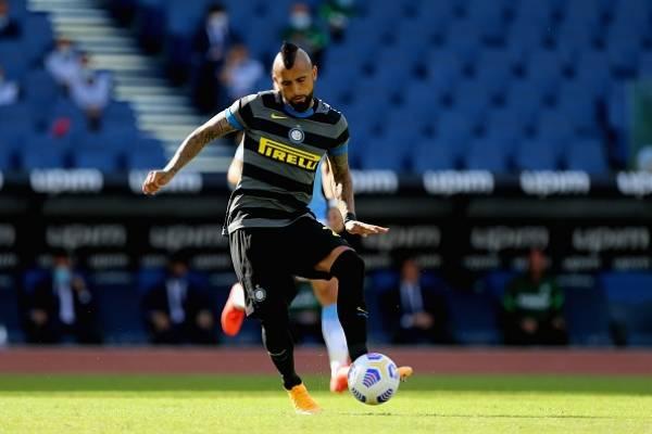 Con Vidal de titular y Alexis ingresando en el segundo tiempo: Inter empata en su visita a la Lazio