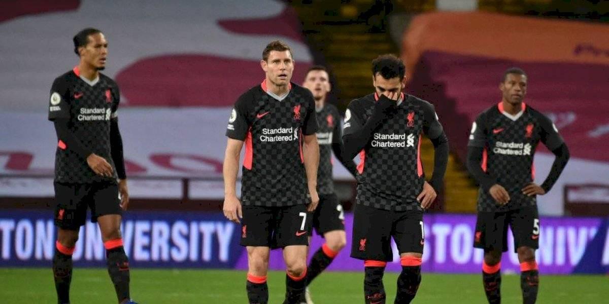Liverpool es humillado por el Aston Villa