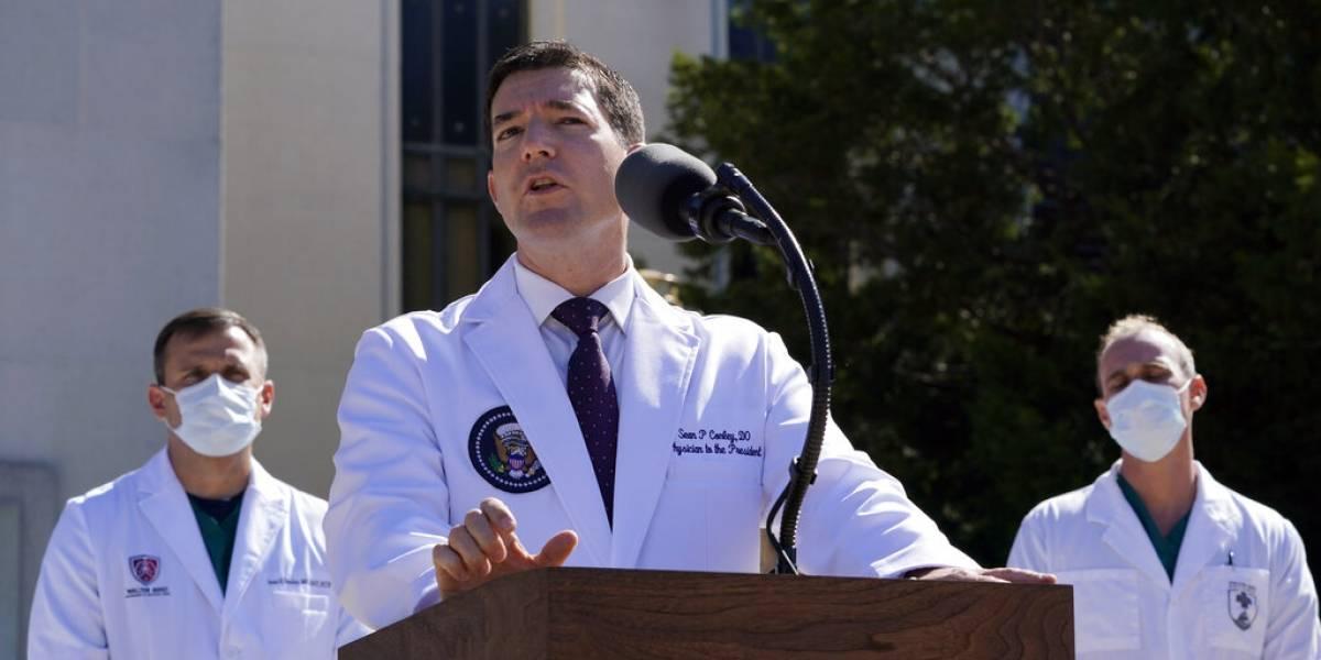 Médicos dicen que el nivel de oxígeno en sangre de Donald Trump bajó dos veces