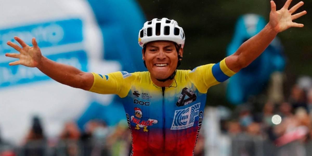 Las palabras de Jonathan Caicedo al ganar la tercera etapa del Giro de Italia