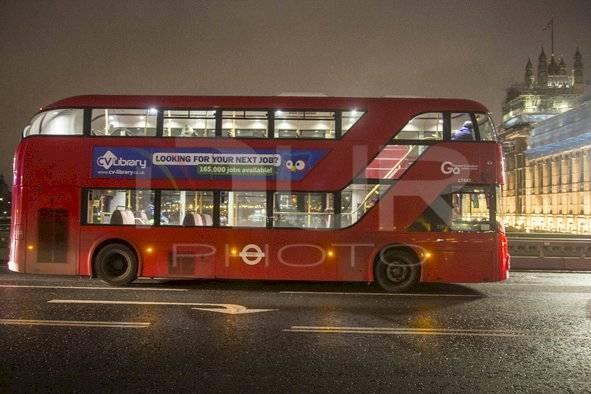 Buses de Londres modernos.