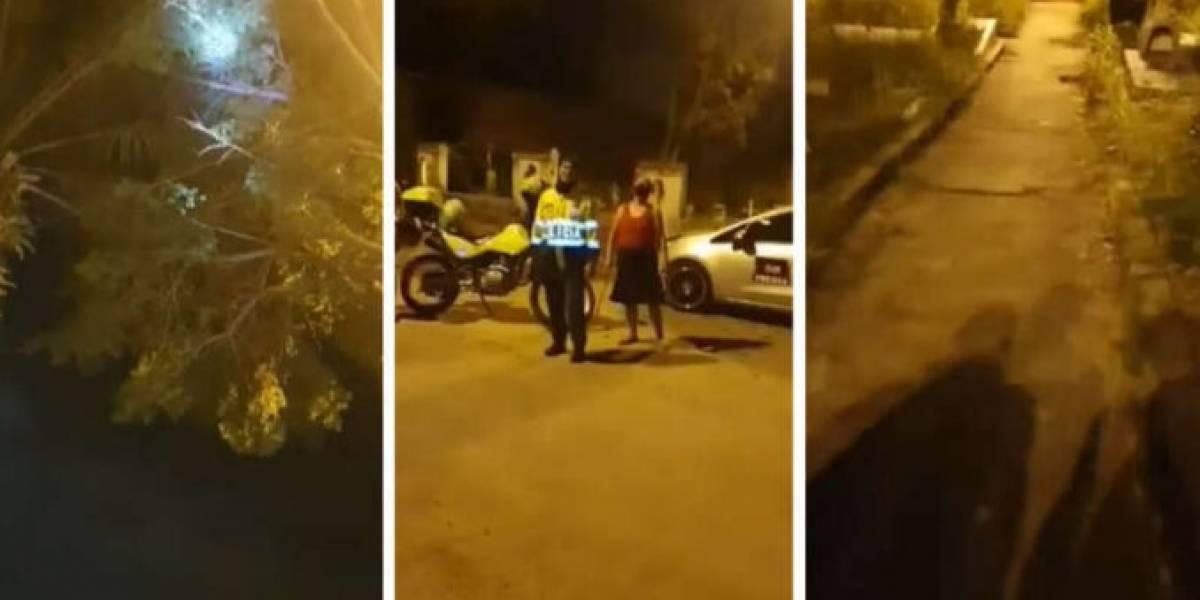 (Video) Supuesta bruja apareció en Ibagué y atacó a varios policías