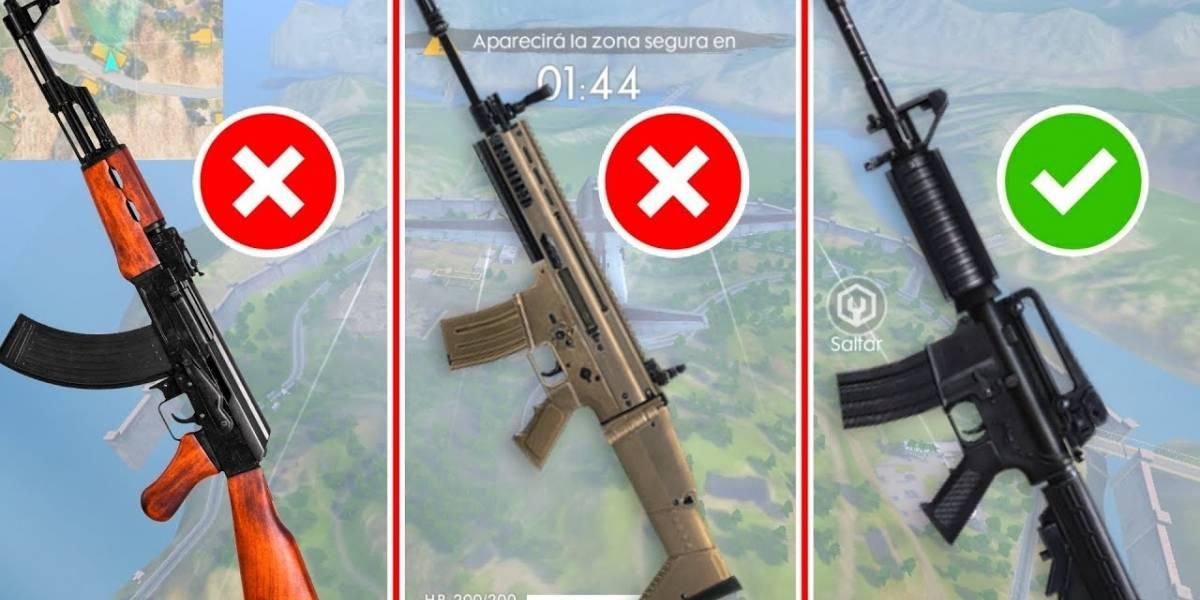 Los mejores rifles de asalto en Free Fire ¿Cuál de todos te conviene?