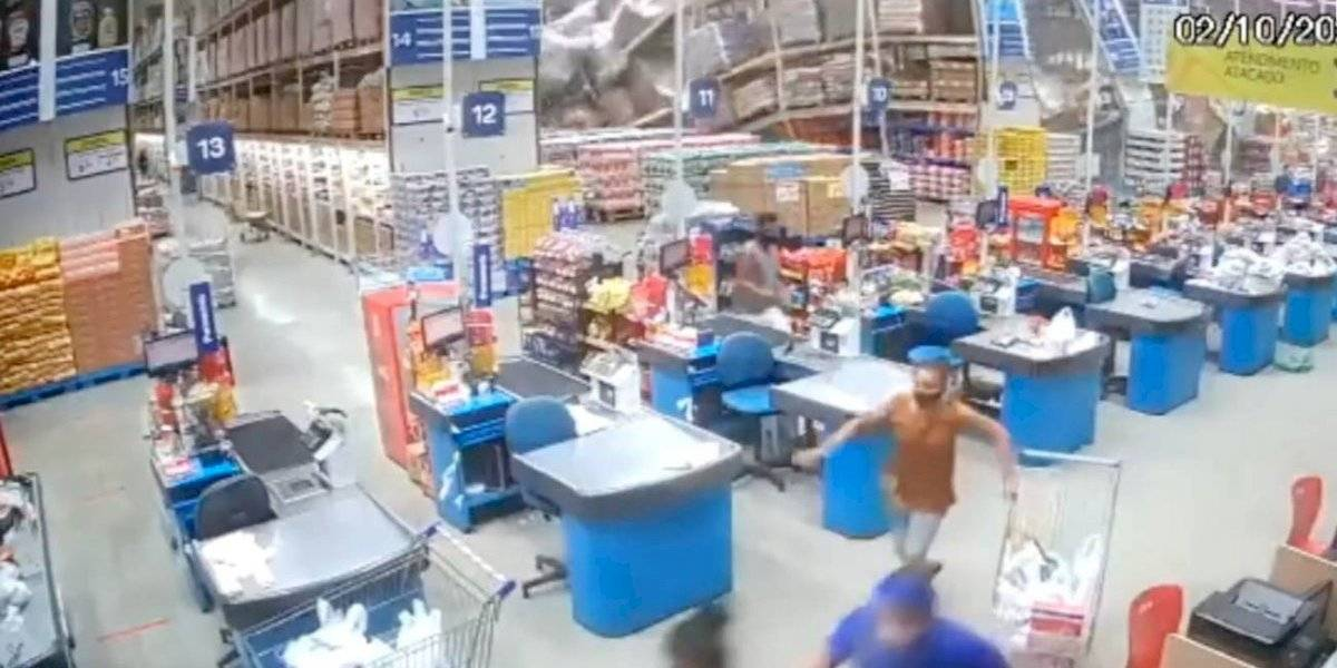 Imágenes impactantes: enorme derrumbe en un supermercado deja una víctima mortal y ocho heridos de gravedad