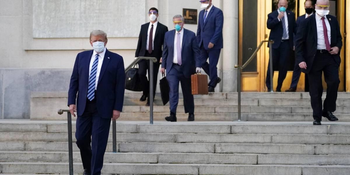 Trump abandona el hospital y regresa a la Casa Blanca