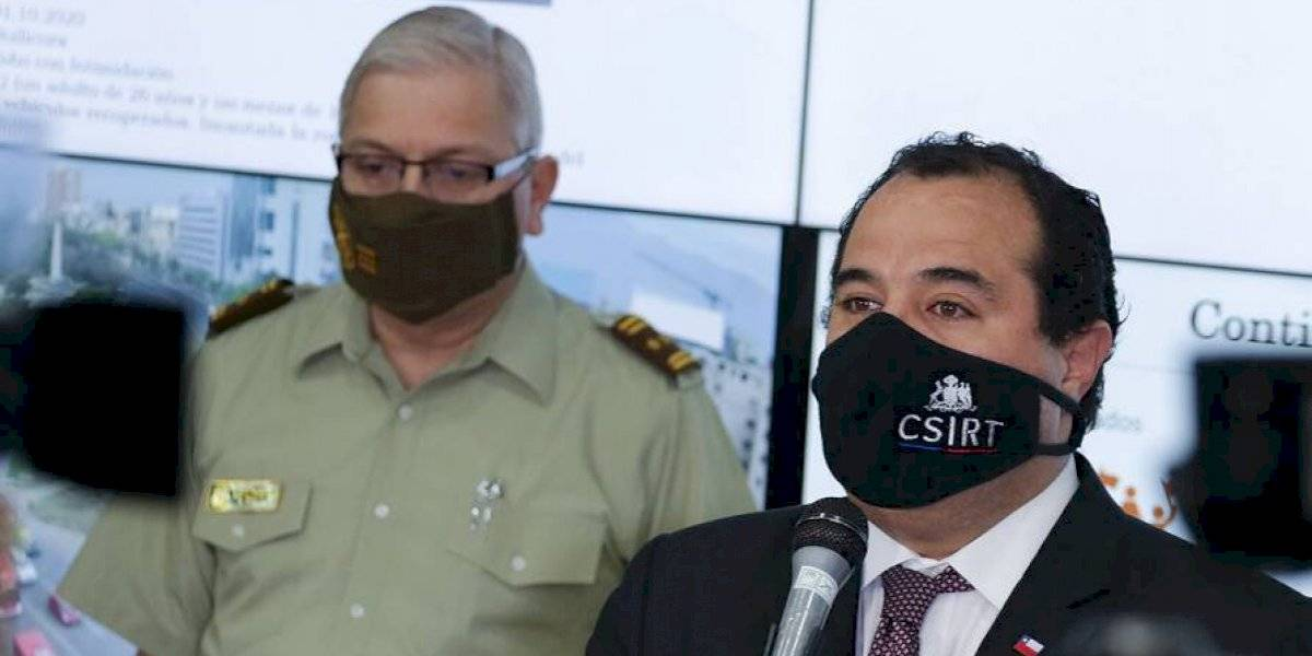 """Gobierno remarca su """"respaldo absoluto a la institución de Carabineros de Chile"""""""