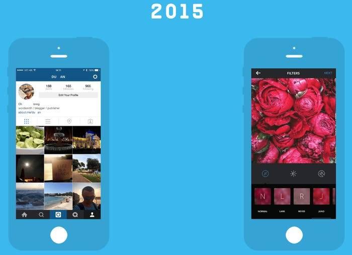 Instagram cumple 10 años: así ha evolucionado su interfaz