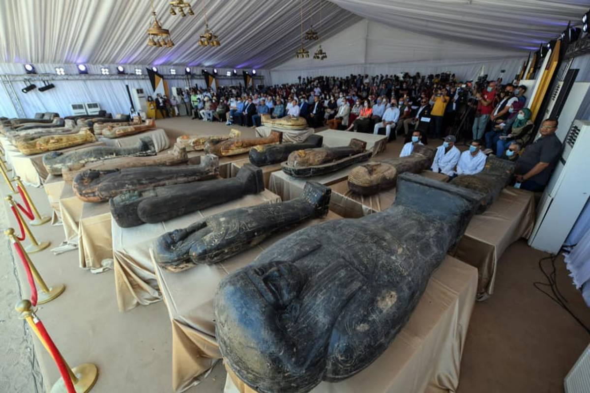 Momias del antiguo Egipto.