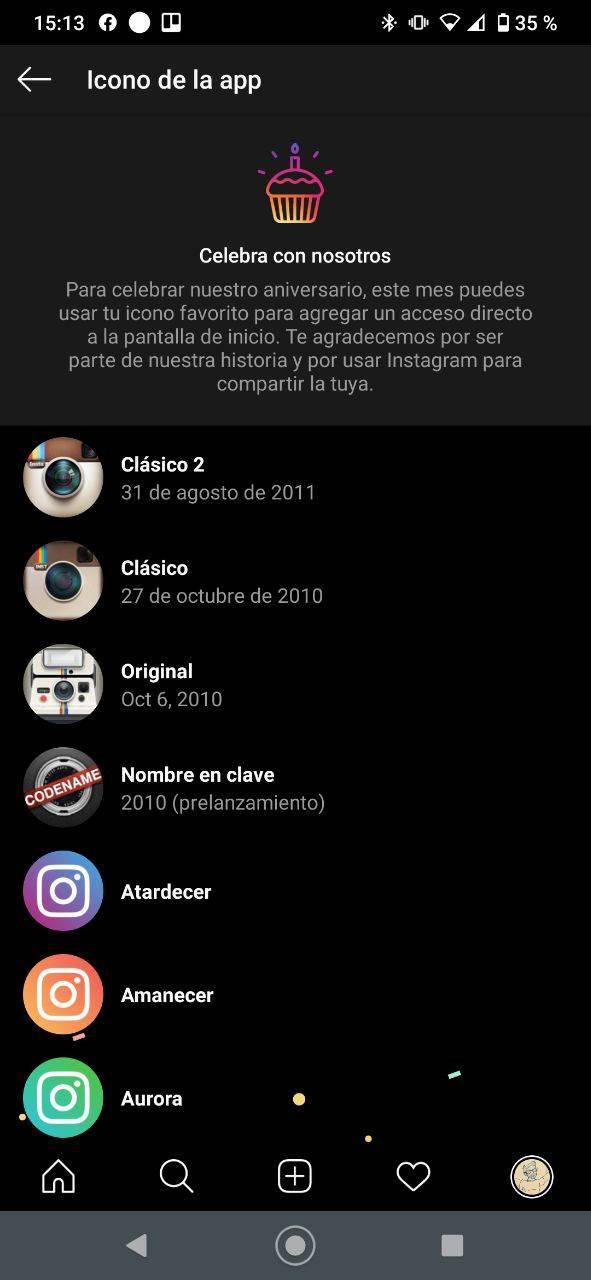 Instagram cambiar logo