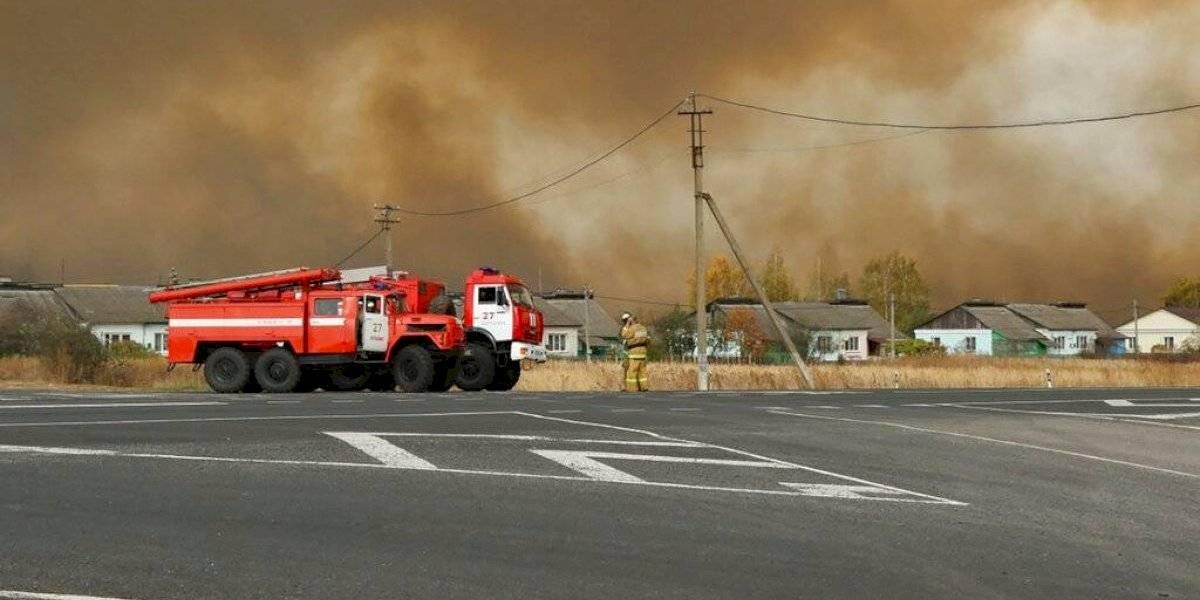 6 heridos en incendio y explosión de arsenal militar en Rusia