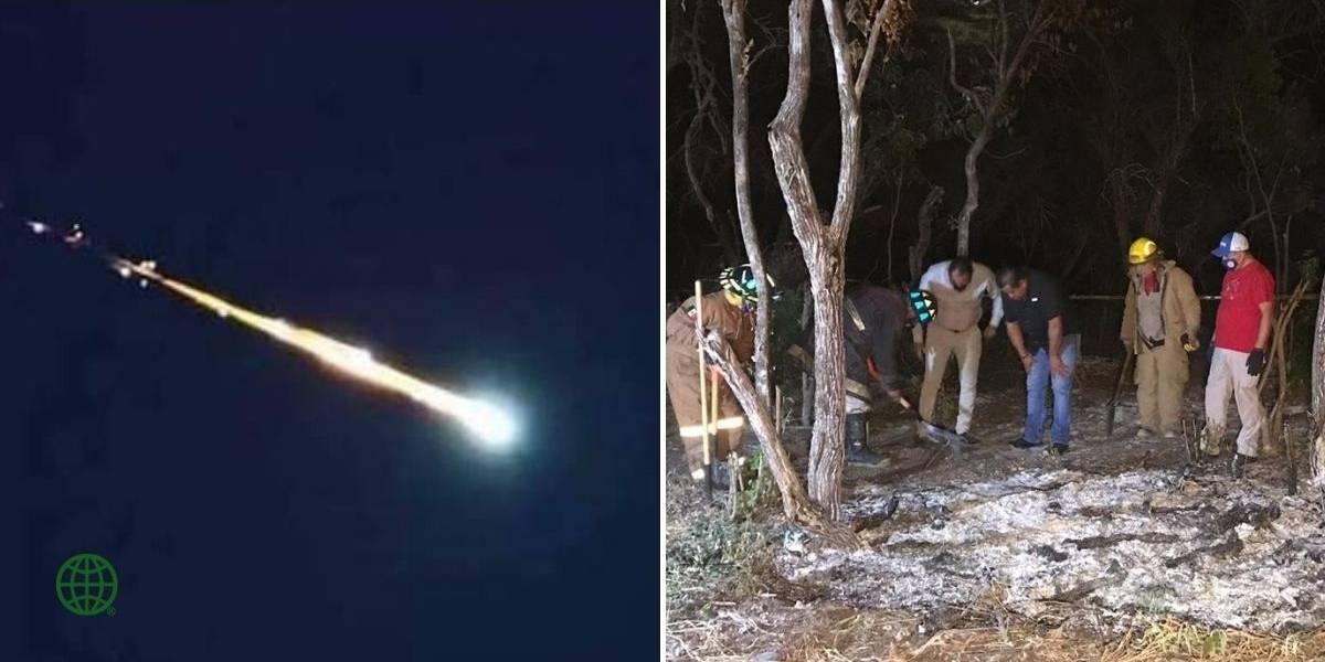 Las impactantes imágenes que dejó la caída de meteorito en territorio mexicano