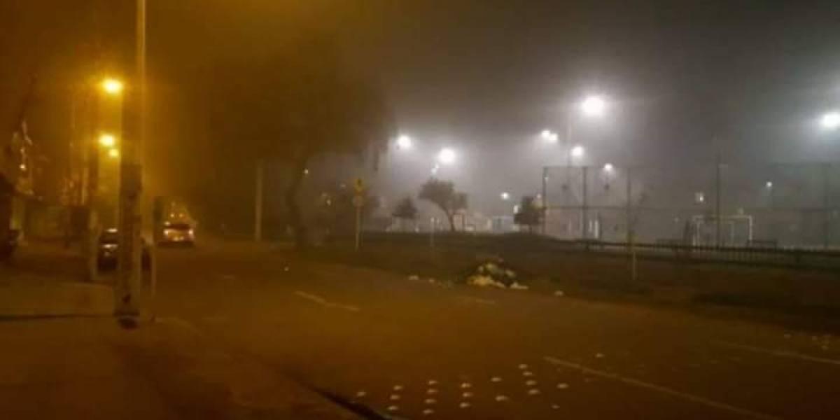 Misteriosa humareda en la noche afectó el occidente de Bogotá