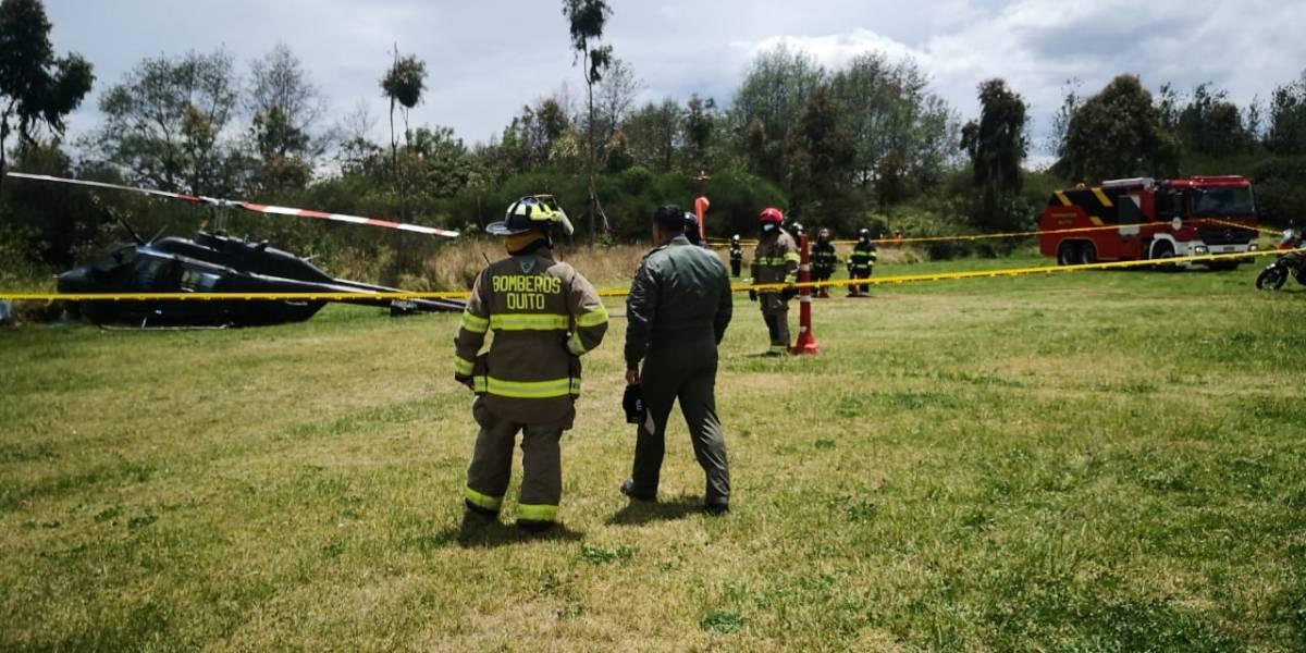 Fuerza Aérea se pronuncia tras accidente de helicóptero en el Itchimbía