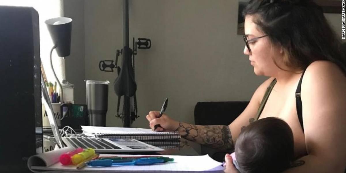 Profesor regaña a alumna por amamantar a su hijo en clase virtual