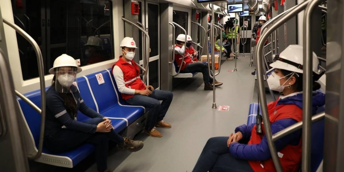 Metro de Quito hizo su primer recorrido con energía propia, desde Quitumbe hasta la Universidad Central