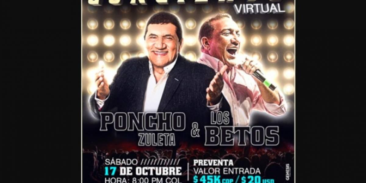 Poncho Zuleta y Los Betos harán un concierto virtual por una buena causa