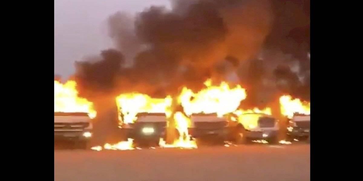 Nuevo ataque incendiario en Angol: al menos 15 camiones fueron incendiados