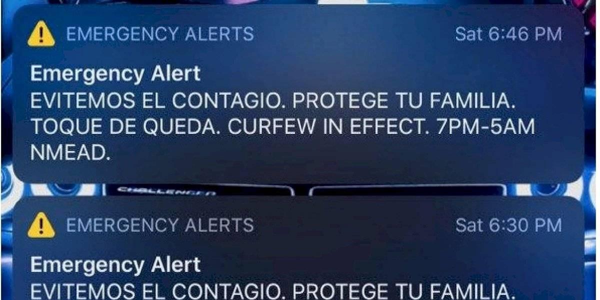 """""""Incorrecto e inadecuado"""" utilizar alerta de celulares para recordar uso de mascarilla y toque de queda"""