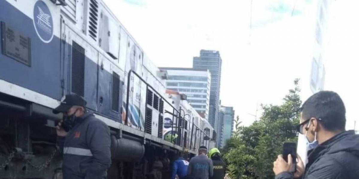 ¡ATENCIÓN! Tren atropelló a dos personas en el norte de Bogotá