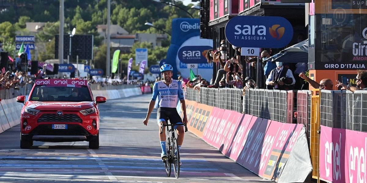 ¡Emocionante! El ganador de la etapa 8 en el Giro pidió que por favor lo contraten porque va a ser papá