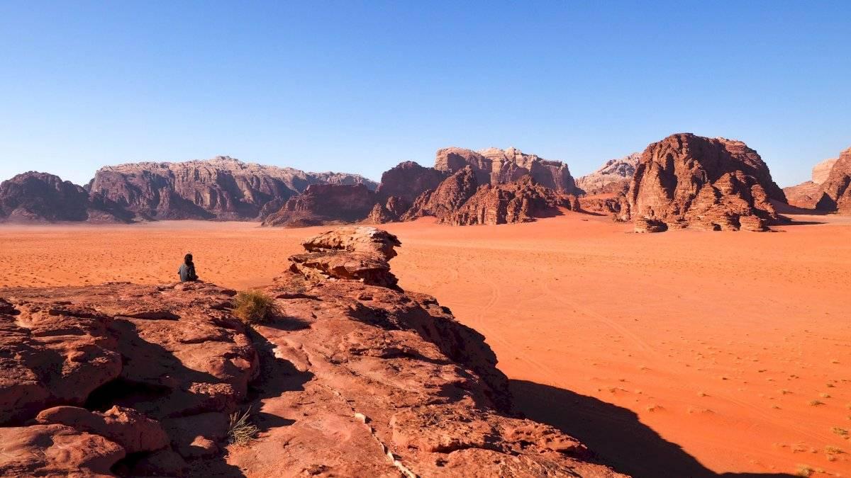 El extraordinario desierto Wadi Rum de Jordania es considerado Patrimonio Mundial de la UNESCO.