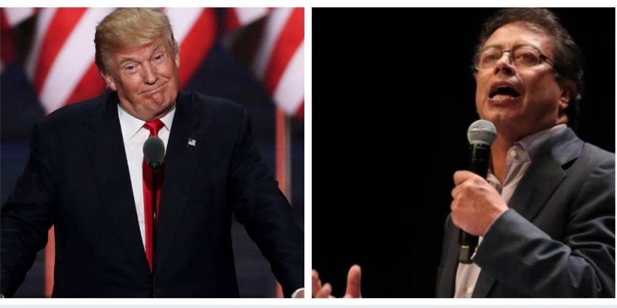 "Donald Trump llamó ""perdedor y líder exguerrillero"" a Gustavo Petro en Twitter"