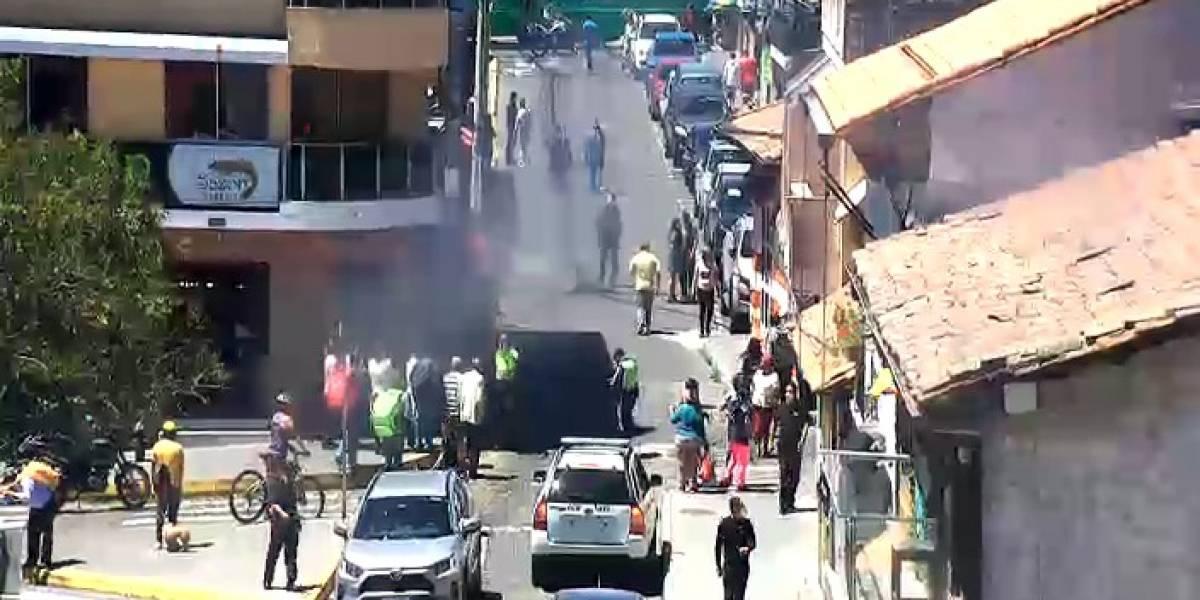 Reportan explosión de tanque de gas en restaurante en Cumbayá