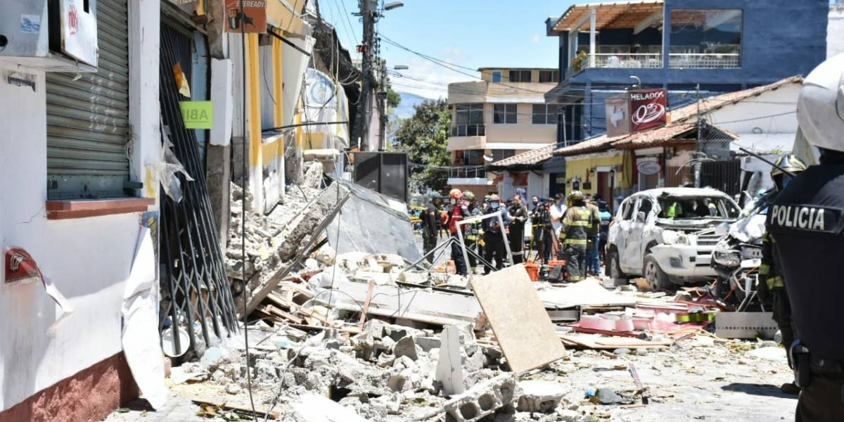 Ocho heridos, entre ellos dos niños, deja la explosión en Cumbayá