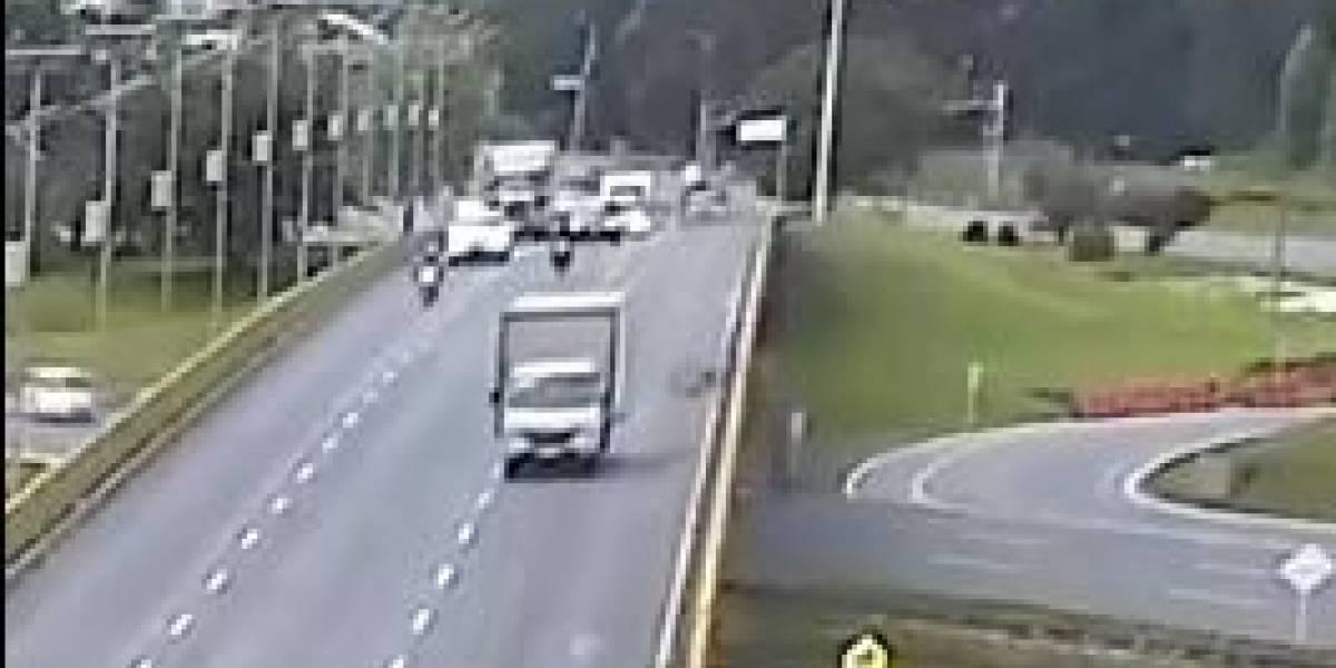 Dueños del camión que arrolló a un ciclista en Chía temen por su seguridad