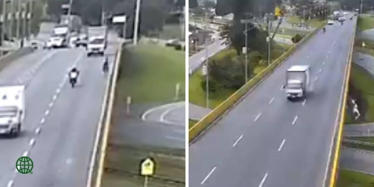 En libertad conductor del camión que atropelló a un ciclista en Chía