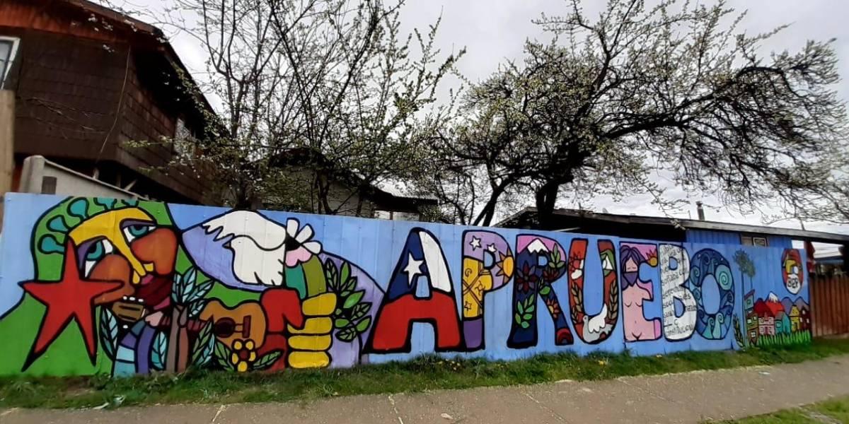 Arte popular para el Plebiscito: pintan Cien murales por el Apruebo en todo el país