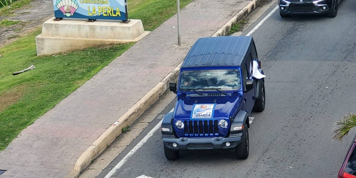 Caravana a favor de Wanda Vázquez para gobernadora llega al Viejo San Juan