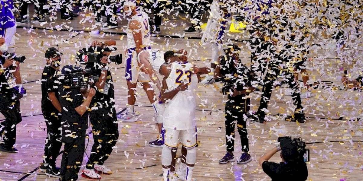 Los Lakers conquistan su 17mo título de la NBA