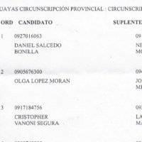 ¿Califica o no Daniel Salcedo como candidato a asambleísta?