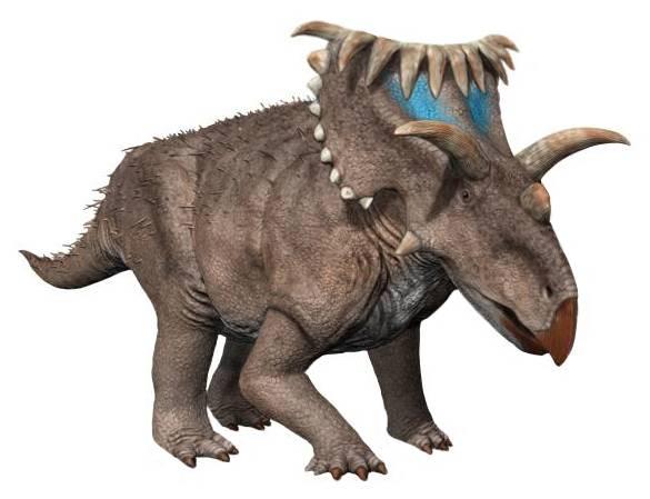 De los dinosaurios más extraños: el Kosmoceratops.