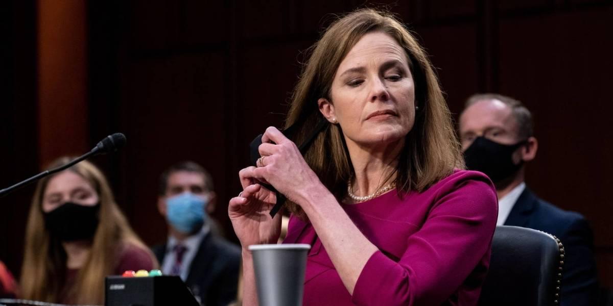 Amy Barrett esquiva temas de aborto, Obamacare y elecciones