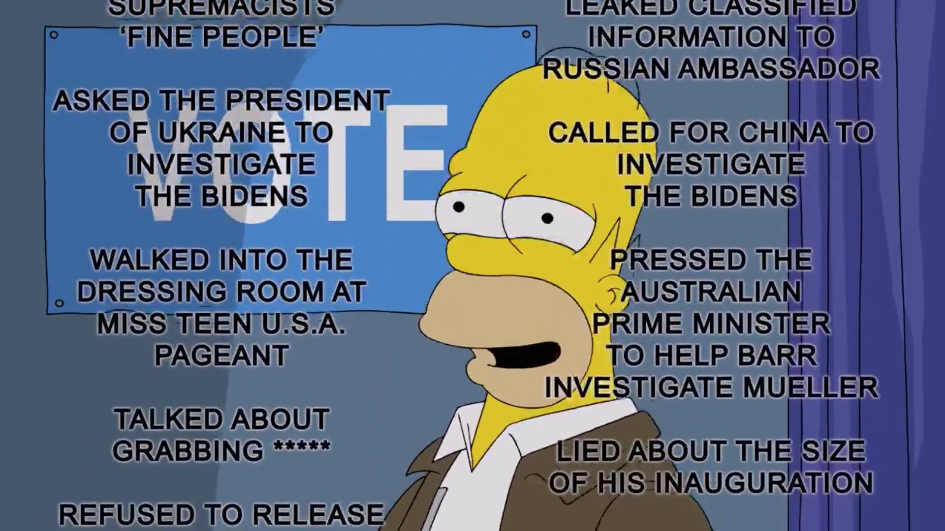 Los Simpson Donald Trump