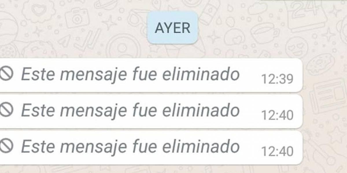 Así puedes leer mensajes eliminados de WhatsApp sin aplicaciones externas
